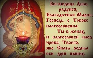 """""""богородице дево, радуйся"""" чудеса молитвы и текст на русском языке"""