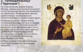 """Молитва путешествующим пресвятой богородице """"одигитрии"""""""