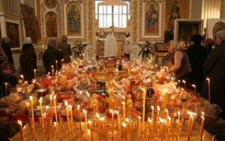 Поминальный стол в церкви где находится и что приносить
