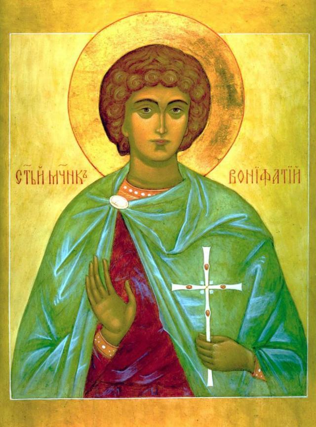Икона святого Вонифатия, в чем она помогает, где находится
