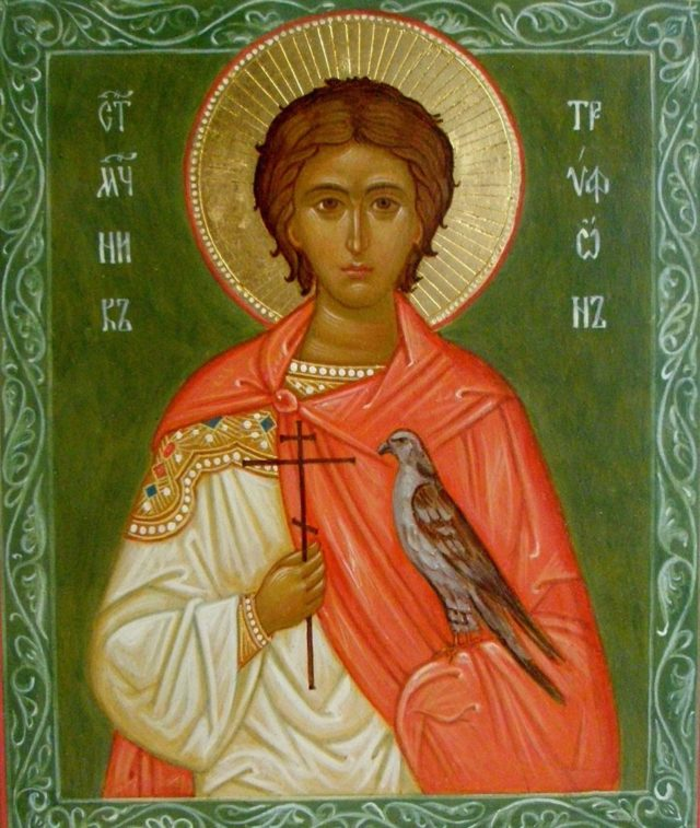 Икона мученика Трифона, значение и как помогает
